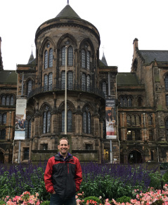 UF Associate Dean Brian Harfe at the University of Glasgow