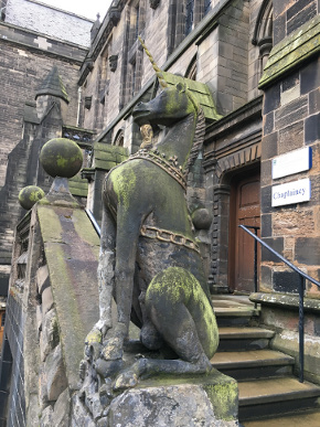 The Lion and Unicorn Staircase at the University of Glasgow